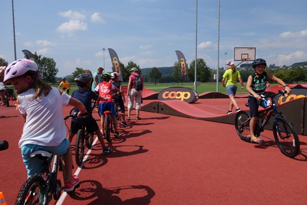 modular Pump Track Erfolg swiss Alps Bike Event