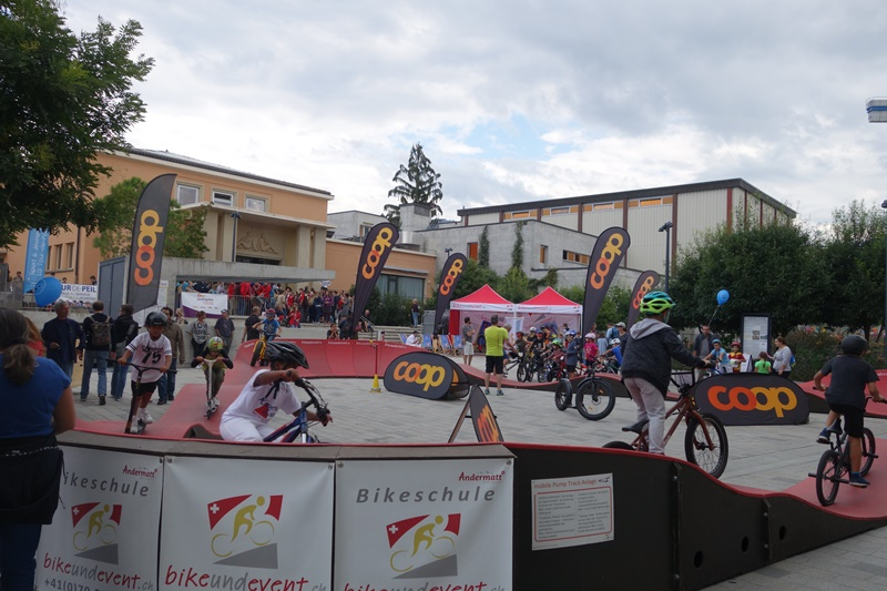 modular Pump Track Event Erfolg swiss Alps